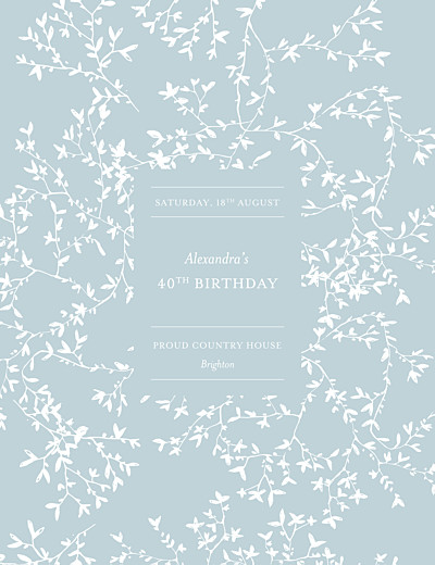 Birthday Invitations Reflections green finition