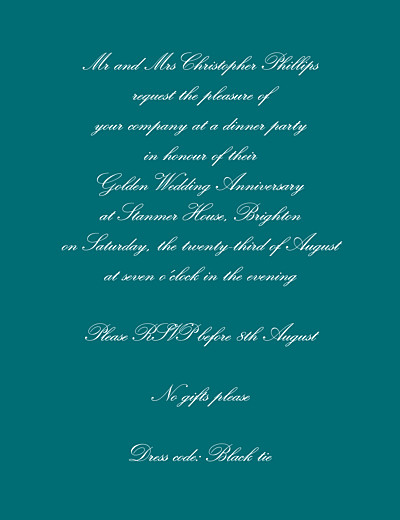 Birthday Invitations Tradition green finition