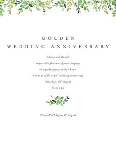 Canopy green birthday invitations