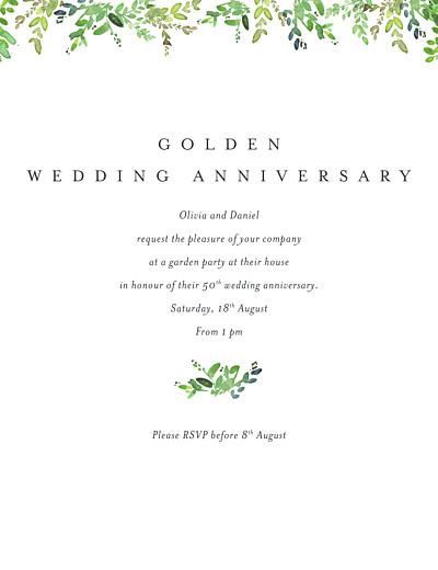 Birthday Invitations Canopy green finition