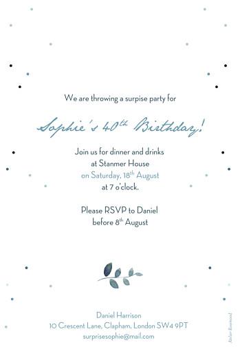 Birthday Invitations Summer night blue - Page 2