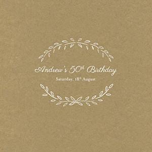 Poem kraft birthday invitations