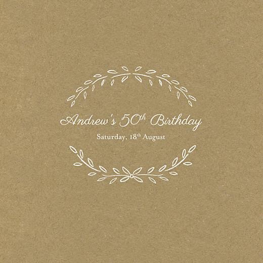 Birthday Invitations Poem kraft
