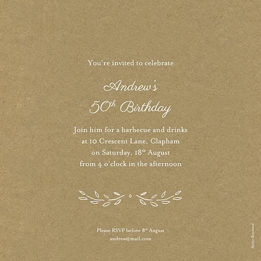 Birthday Invitations Poem kraft - Page 2