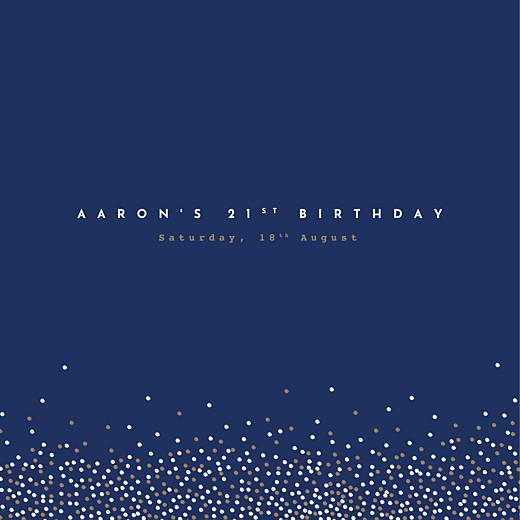 Birthday Invitations Confetti blue