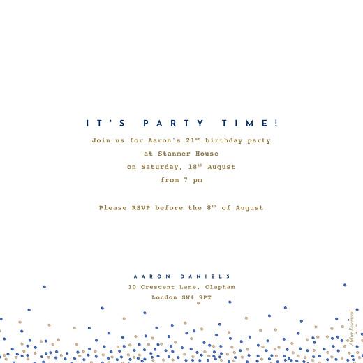 Birthday Invitations Confetti blue - Page 2