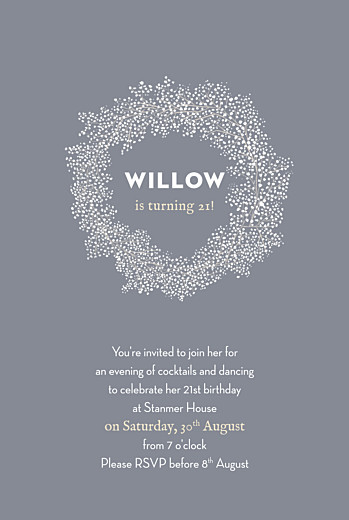 Birthday Invitations Baby's breath grey
