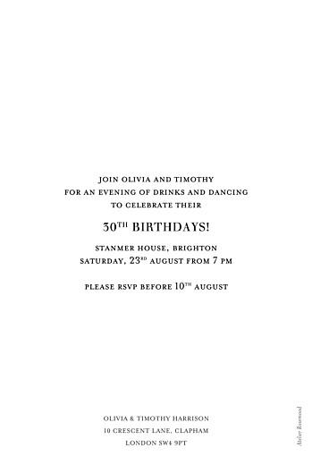 Birthday Invitations Modern chic portrait white - Page 2