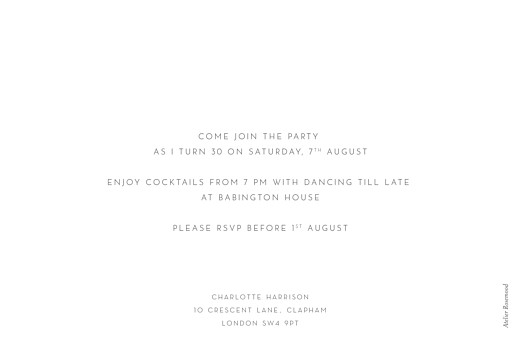 Birthday Invitations Simple photo landscape white - Page 2