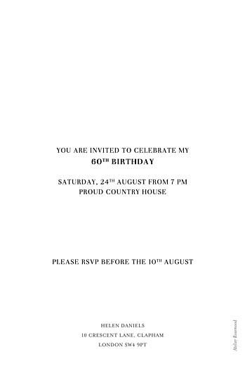 Birthday Invitations Elegant photo white - Page 2