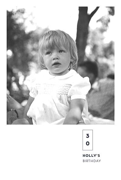 Birthday Invitations Laure de sagazan (foil) white finition