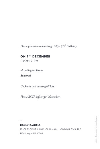 Birthday Invitations Laure de sagazan (foil) white - Page 2
