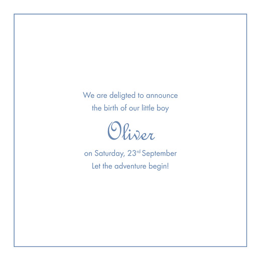 Baby Announcements Chic border (bilingual) blue - Page 2