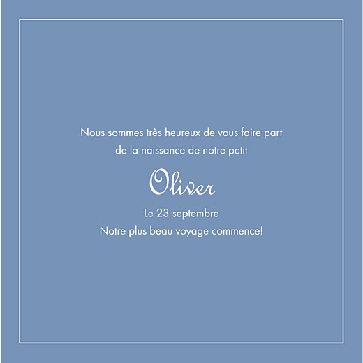 Baby Announcements Chic border (bilingual) blue - Page 3