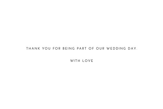 Wedding Thank You Cards Forever and always white