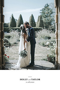 Even after portrait white wedding thank you cards