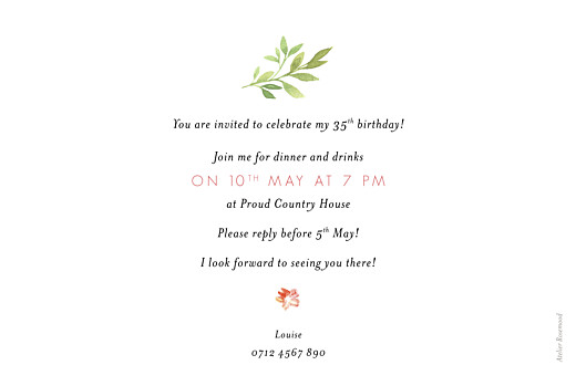 Birthday Invitations Spring blossom cream - Page 2