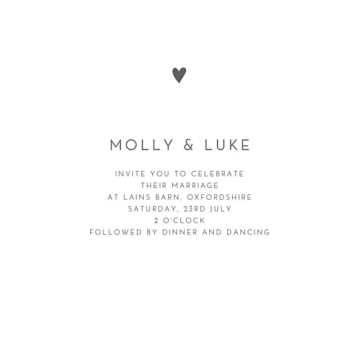 Wedding Invitations Elegant heart 4 pages (foil) white
