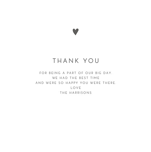Wedding Thank You Cards Elegant heart 4 pages (foil) white - Page 3