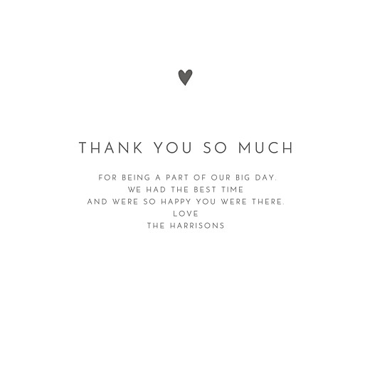 Wedding Thank You Cards Elegant heart 4 pages white - Page 3