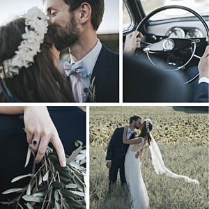 Reminisce 4 photos white le collectif  wedding thank you cards