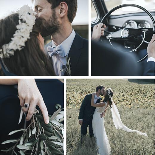 Wedding Thank You Cards Reminisce 4 photos white