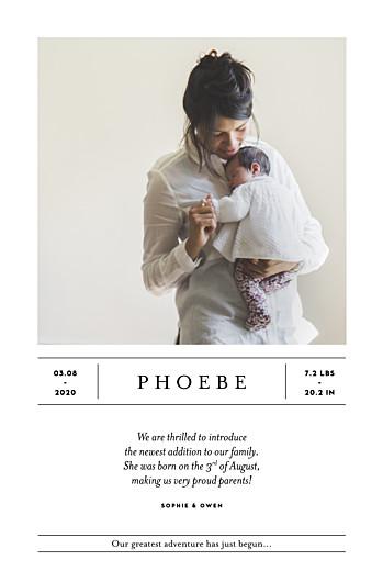 Baby Announcements Breaking news (portrait) white
