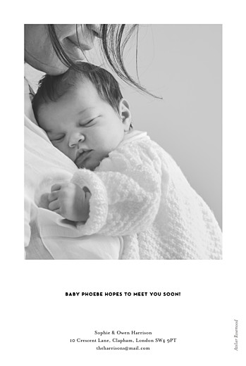 Baby Announcements Breaking news (portrait) white - Page 2