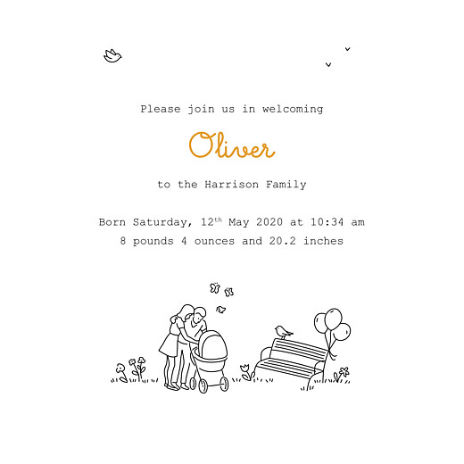 Baby Announcements Woodland promise white - Page 3