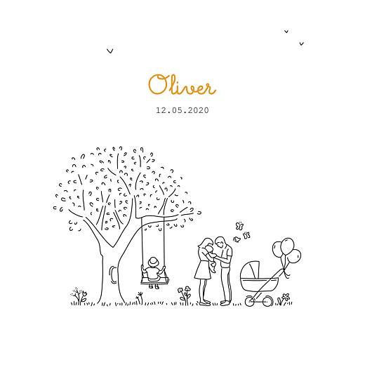 Baby Announcements Woodland promise (2 children) boy