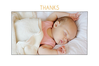Baby Thank You Cards Rustic promise photo (mini) white finition
