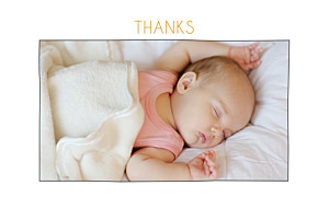 Rustic promise photo white marion bizet baby thank you cards