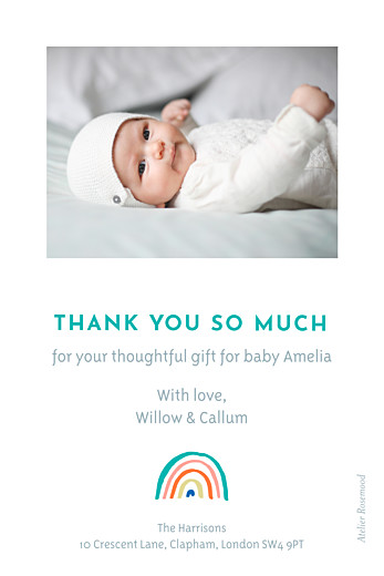 Baby Thank You Cards Rainbow (mini) beige - Page 2