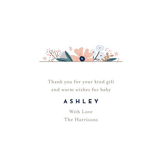 Baby Thank You Cards Floral ribbon (4 pages) pink - Page 3