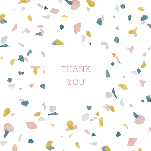 Baby Thank You Cards Granite (4 pages) pink & yellow