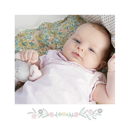 Baby Thank You Cards Rustic floral (4 pages) white - Page 2