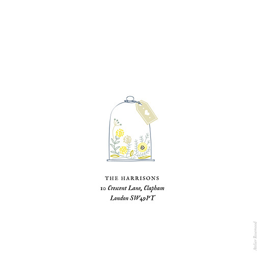 Baby Thank You Cards Rustic floral (4 pages) white - Page 4