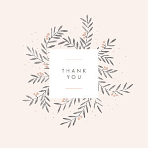 Jubilation (4 pages) pink girls baby thank you cards