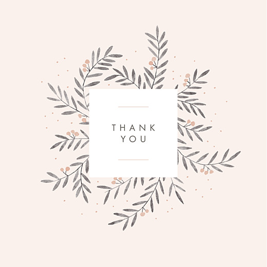 Baby Thank You Cards Jubilation (4 pages) pink