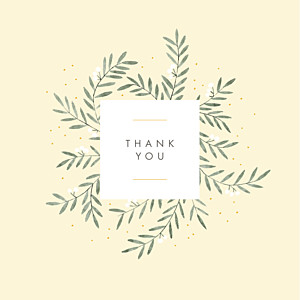 Jubilation (4 pages) yellow yellow baby thank you cards