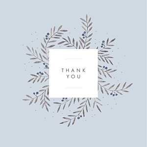 Jubilation (4 pages) blue blue baby thank you cards