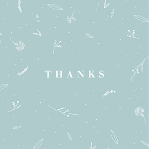 Elegant foliage (4 pages) green green baby thank you cards