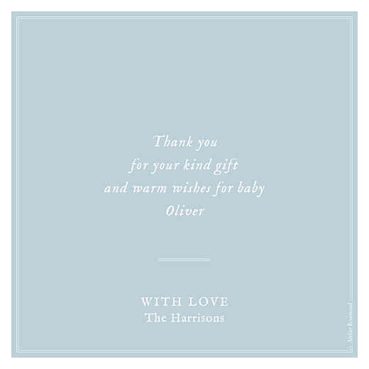 Baby Thank You Cards Medallion (large) blue