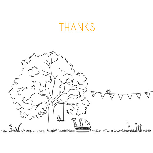 Baby Thank You Cards Rustic promise white