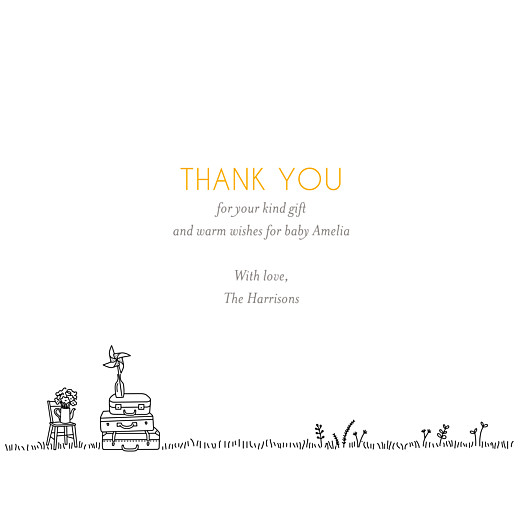 Baby Thank You Cards Rustic promise white - Page 3