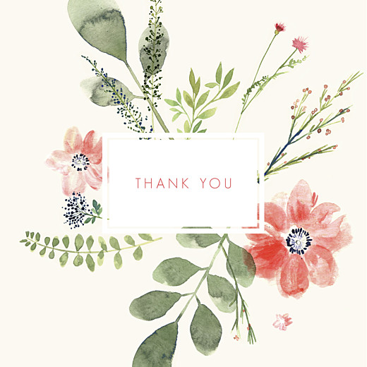 Baby Thank You Cards Spring blossom (4 pages) cream