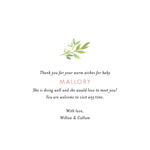Baby Thank You Cards Spring blossom (4 pages) cream - Page 3
