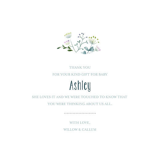 Baby Thank You Cards Watercolour meadow (4 pages) blue - Page 3