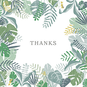 Tropical forest photo (large) green baby thank you cards