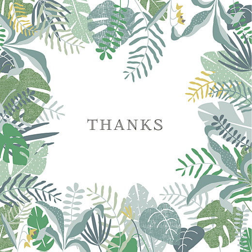 Baby Thank You Cards Tropical forest photo (large) green